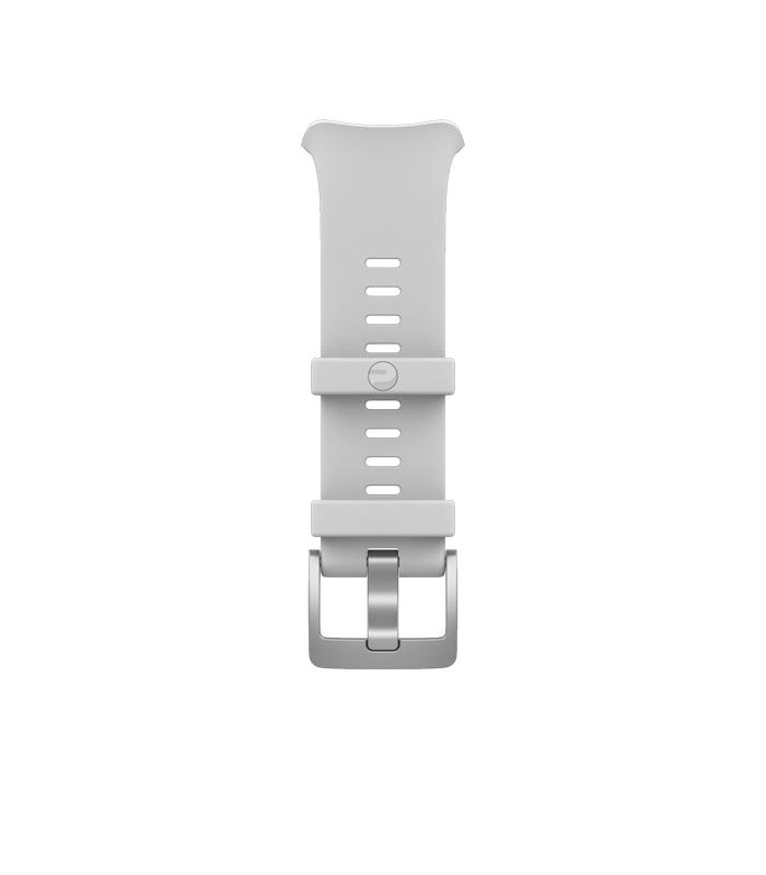 polar vantage v bracelet single buckle white
